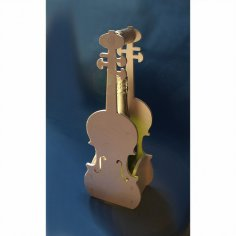 Box for Champagne Violin DXF File