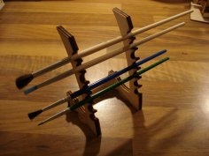 Samurai Paintbrush Stand Laser Cut