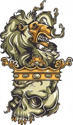 Skull Lion Print
