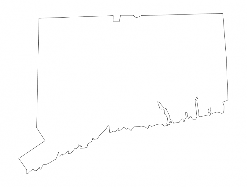 Connecticut State Map dxf File