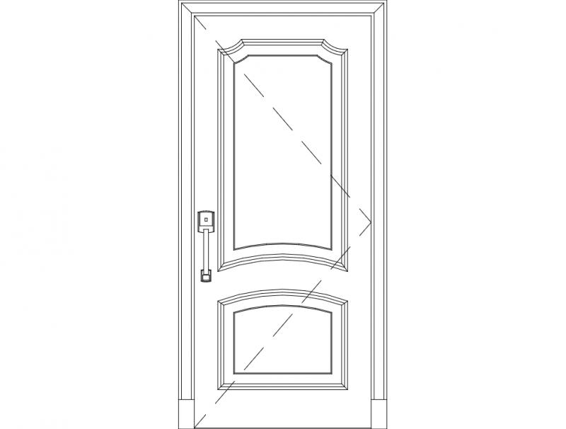Wooden Front Door dxf File