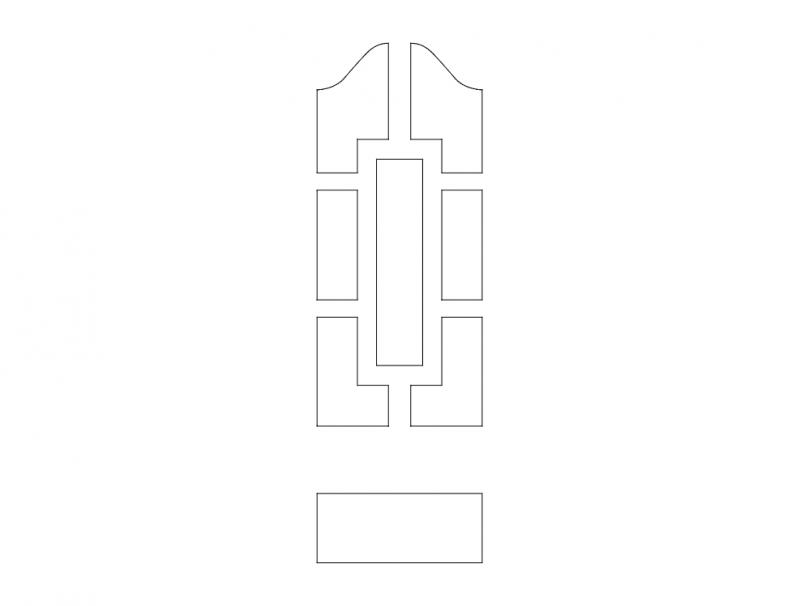 Mdf Door Design 4 dxf File