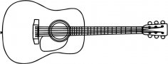 Anthonys Acoustic Guitar Outline dxf File