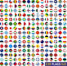 World Flags Vector Free Vector