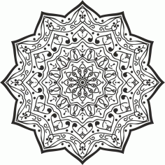 Luxury Mandala Design CDR File