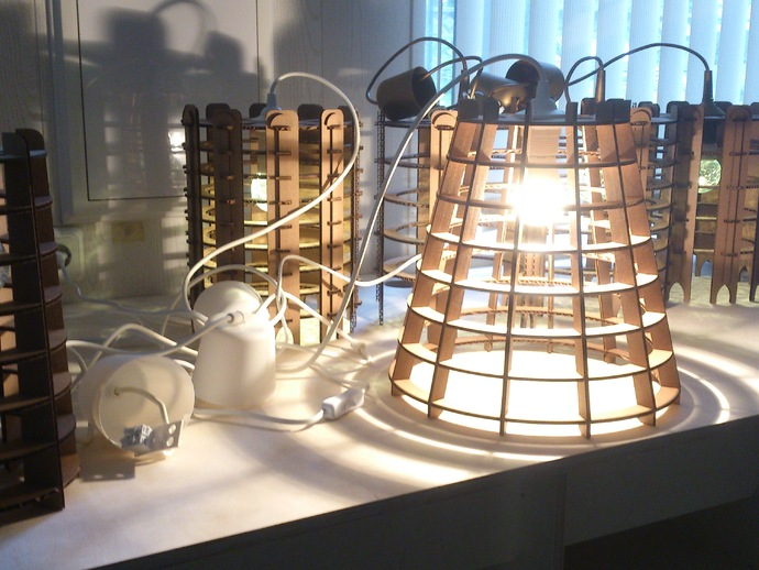 Cardboard Lamp Shade CDR File