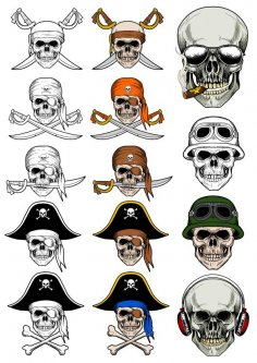 Pirate Skull Vectors
