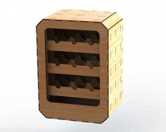 Wine Rack Rectangular 6mm DXF File