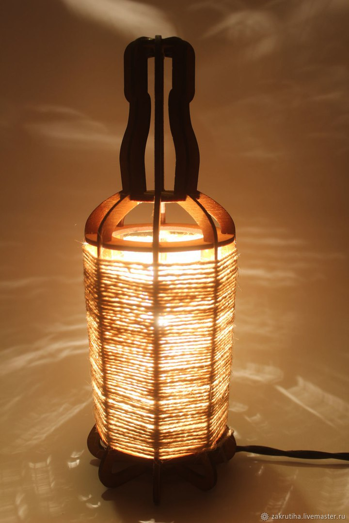 Tabletop Night Light Lantern Plywood Laser Cut 3mm DXF File