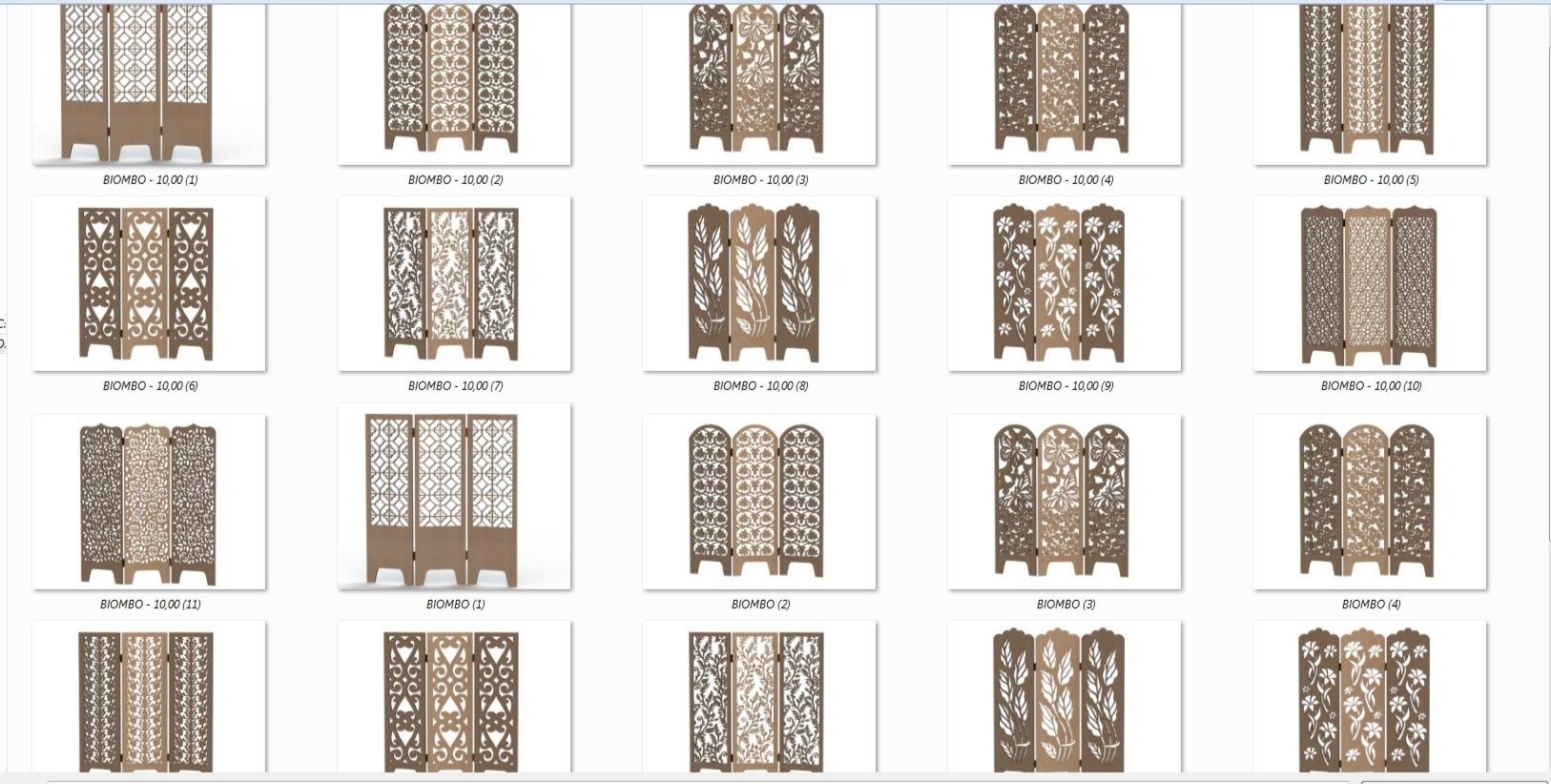 Decorative Panel Screens CDR File