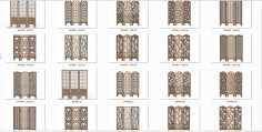 Decorative Panel Screens Free Vector