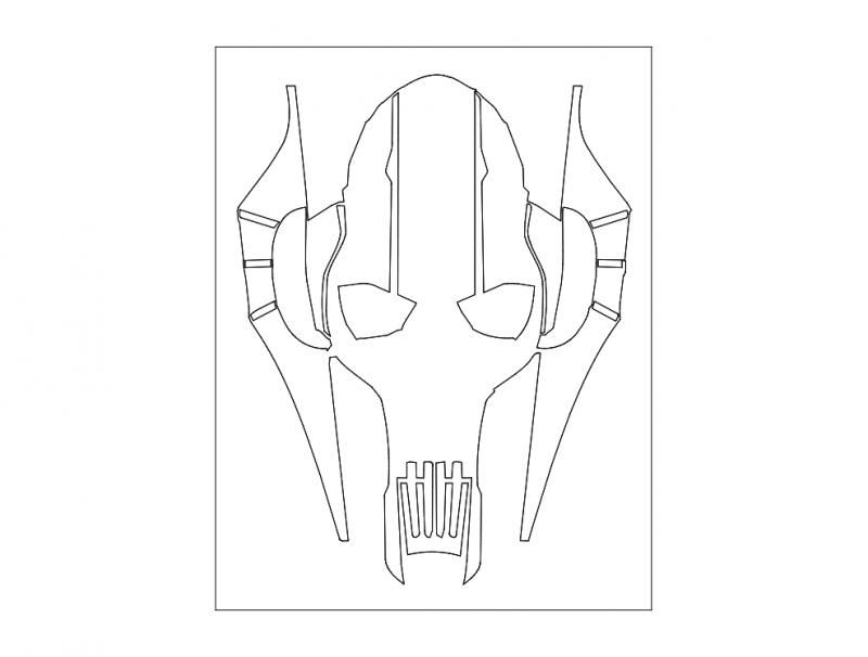 Horror Skull 440b dxf File
