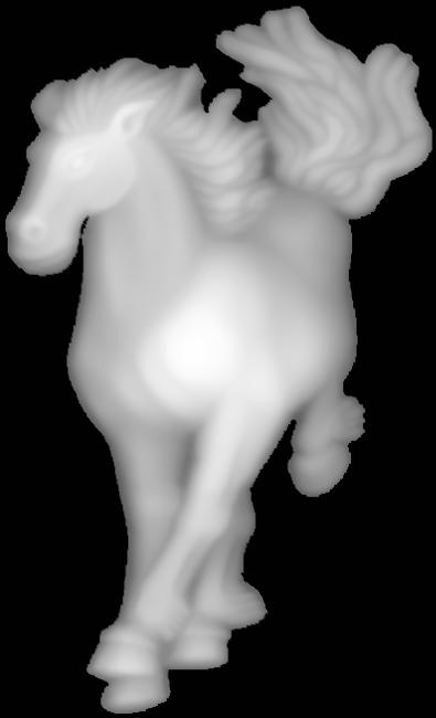 Grayscale 3d Relief Horse BMP File