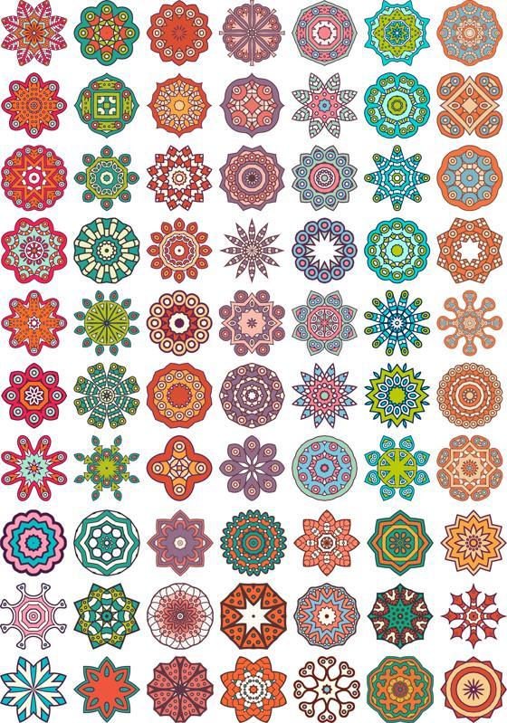 Ornamental colorful vector mandala Free Vector