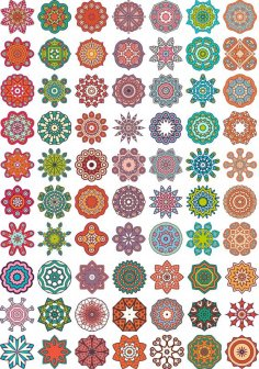 Ornamental colorful vector mandala Free Vector