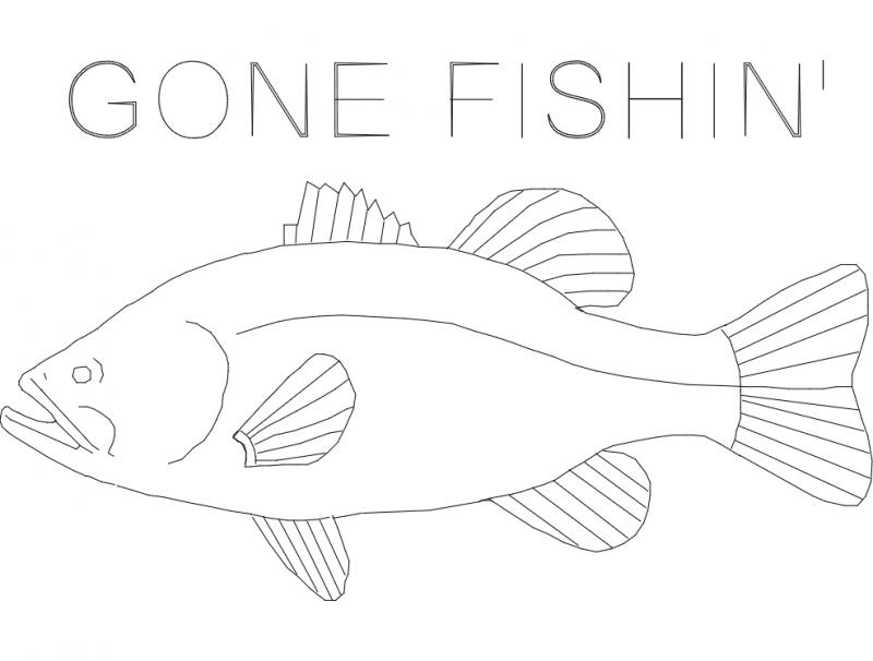 Bass gone fishin final dxf File