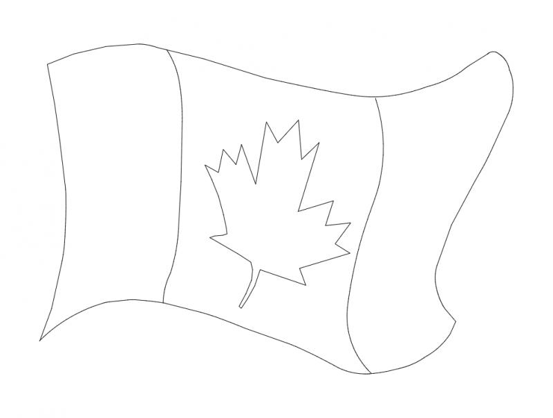 Canada Flag dxf File