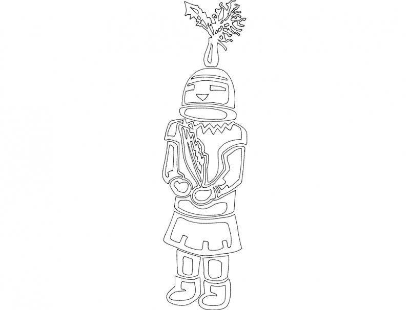 Festive Things 12 dxf File