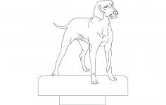 Dog 1 dxf File