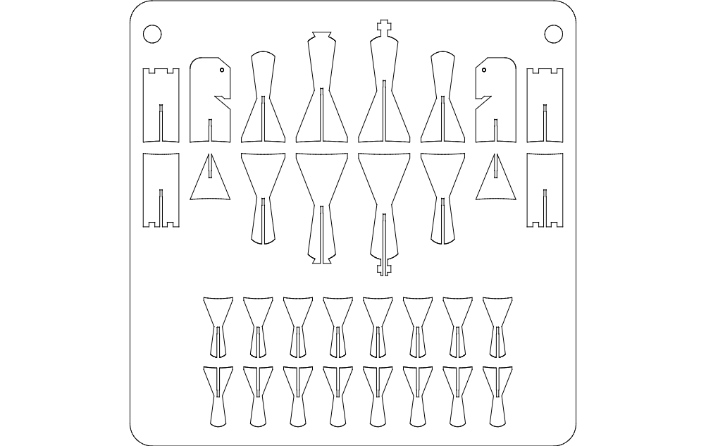 Chess dxf File