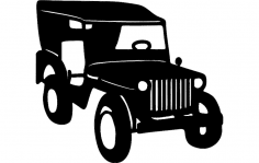 Willys jeep dxf File