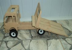 Truck 3D Puzzle DXF File