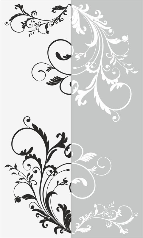 Decorative Floral Pattern Sandblast Pattern Free Vector