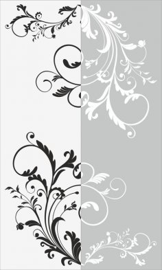 Decorative Floral Pattern Sandblast Pattern