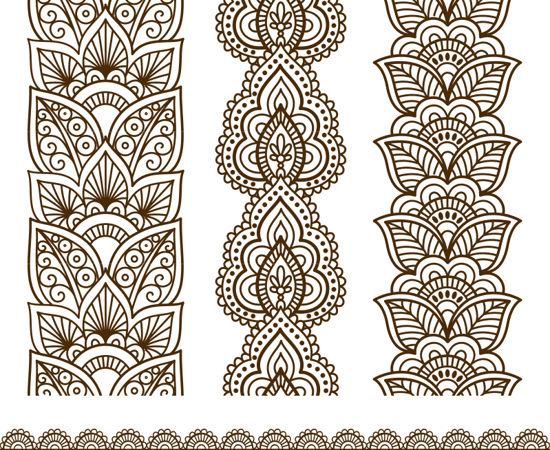 Free download of Indian Mehndi Design vector Free Vector
