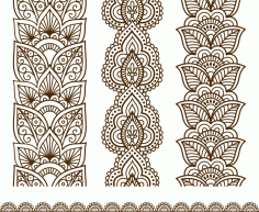 Free download of Indian Mehndi Design vector Free Vector
