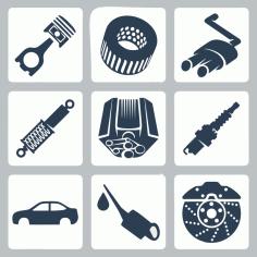Car Parts Vectors Free Vector