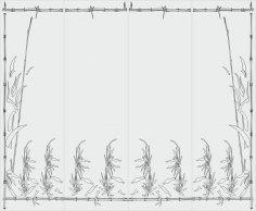 New Leaves Stencil Artwork Sandblasting Free Vector