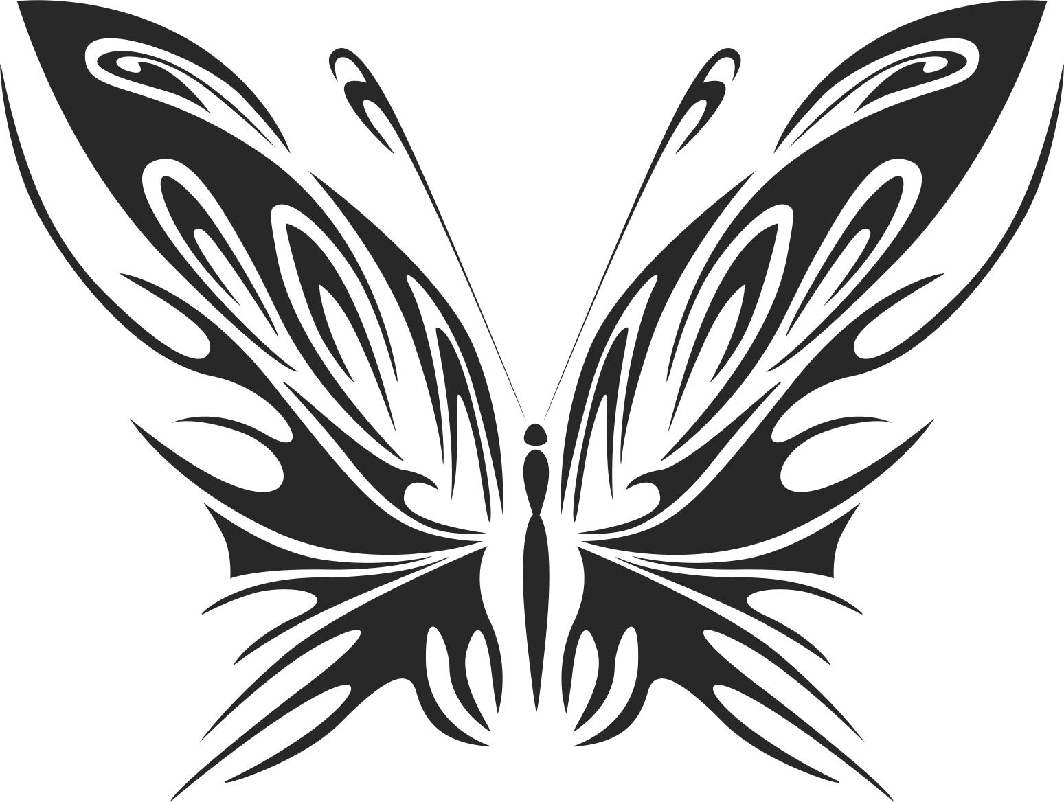 Tribal Butterfly Vector Art 40 DXF File