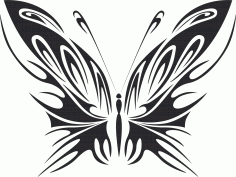 Tribal Butterfly Vector Art 40 DXF File