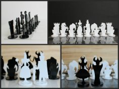 CNC Chess Set Plans Free Vector