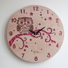 Modern Wall Clock OWL CDR File