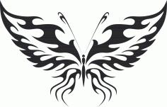 Tribal Butterfly Vector Art 11 DXF File