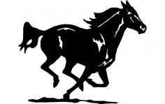Horse Running 4 dxf File