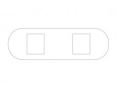 belt-buckle dxf File