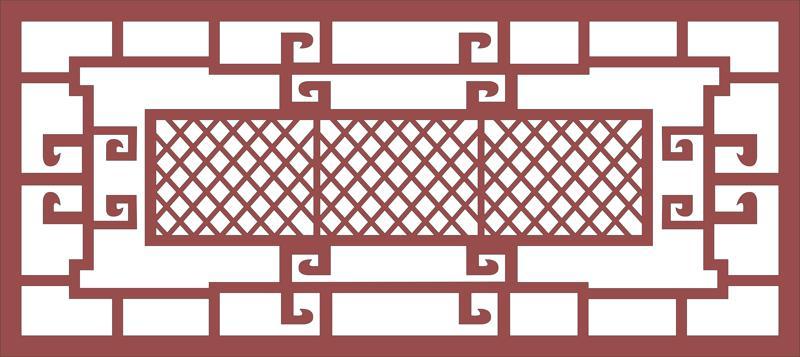 Ornamental Steel Fence Pattern dxf File