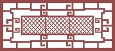 Ornamental Steel Fence Pattern dxf File