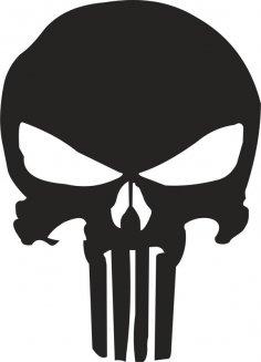 Punisher Skull Stencil Vector Free Vector