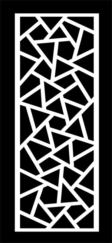 Grille Panel Pattern dxf File