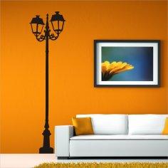 Ornate Lamp Post vector Free Vector