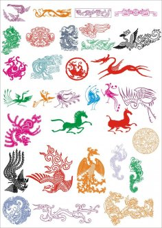 Ancient Pattern Vector Set Free Vector