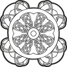 Celtic Knot Pattern CDR File