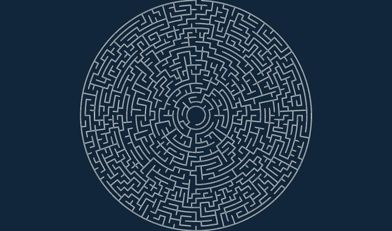 Circular maze 50×...K Logo 3d