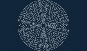 Circular maze 50×5 O.dxf