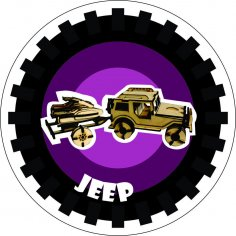 Jeep  Jet Ski Laser Cut PDF File