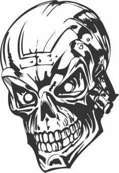 Human Evil Skull DXF File